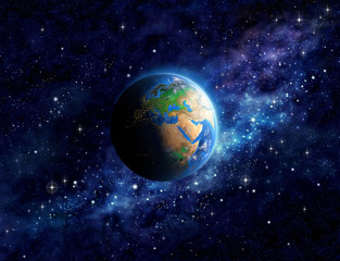 Wall Mural - Planet Earth in outer space