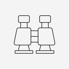 Binoculars line icon