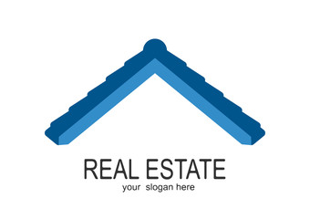 House blue Real Estate logo icon  design