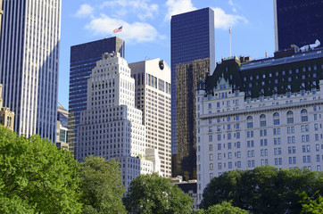 Central Park and midtown Manhattan skyline, New York City