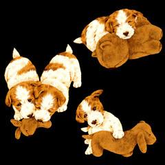 手描きの犬