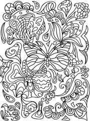 Butterfly  zentangle