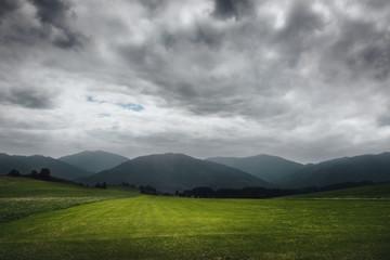 Foto op Canvas Bleke violet dark landscape