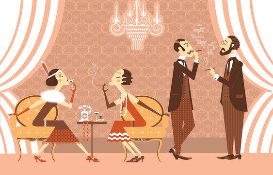 Vector vintage party