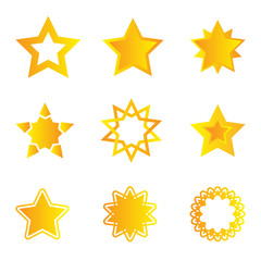 Collection of stars for business