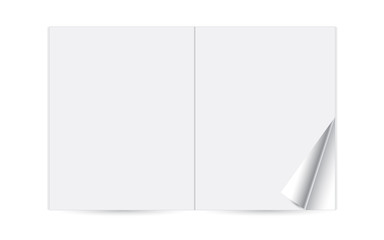 Paper magazine booklet, template reversal journal