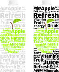 Nectar Apple Juice Pack into Words and Letters