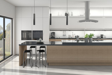 Küchenzeile mit Küchenblock