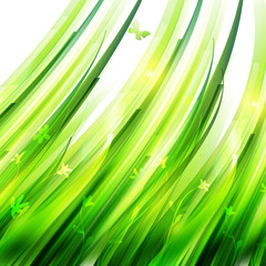 Growing grass background