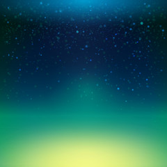 Night sky with stars, vector illustration