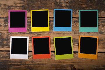 Eight colorful frames