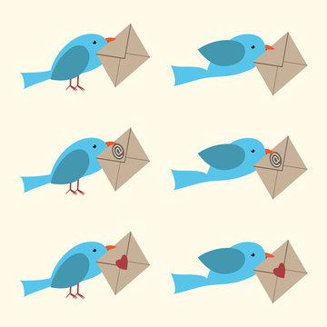 Bird with envelope set