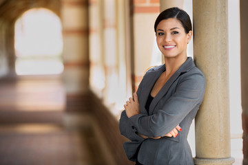 Proud confident latina woman professional business woman of mixed ethnicity