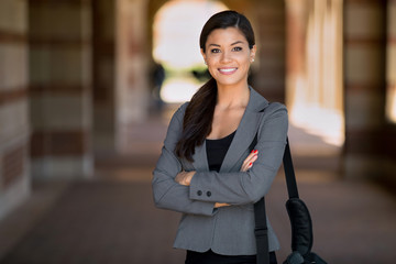 Portrait of Attorney woman attractive confident and successful at the workplace