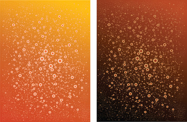 Two backgrounds.Carbonated Drink .color Orange  black brown