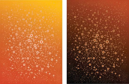 Two backgrounds.Carbonated Drink .color Orange  black brown