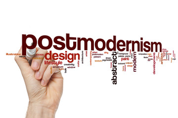 Postmodernism word cloud concept