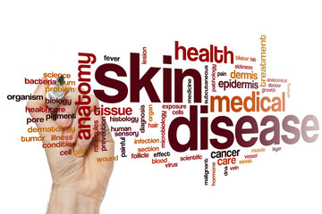 Skin disease word cloud