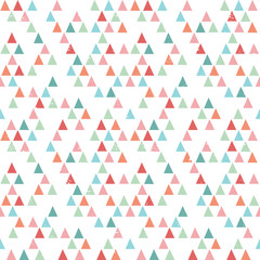 seamless hipster background triangles bright pastel colors