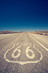 Fototapeten Route 66 Route 66, symbol of the nostalgic highway of the USA