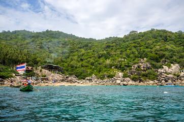 blue sea at Koh-Tao, Thailand