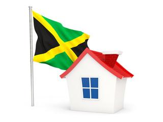 House with flag of jamaica