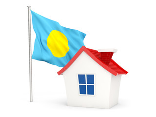 House with flag of palau