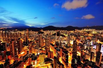 香港 高層マンションからの夜景