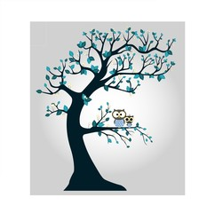 Tree with branches and owl