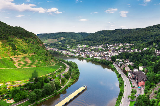 Cochem on the Moselle river