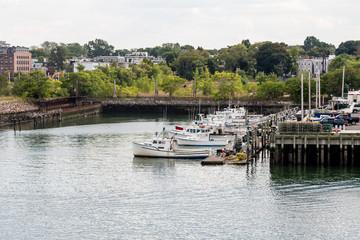Fishing Boat Dock Near Boston