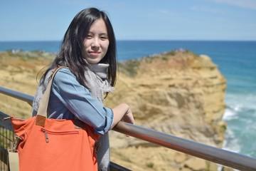 Natural travelling girl