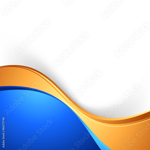 quotbright swoosh border abstract blue gold backgroundquot stock