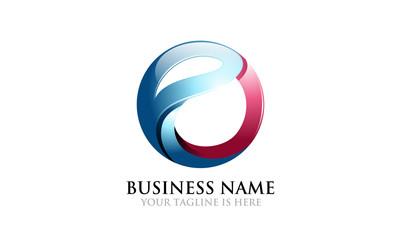 3D E Modern Logo
