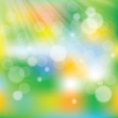 Green light burst with shiny light dots