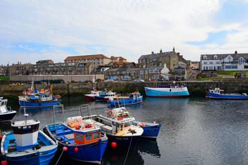 Photo sur Aluminium Bleu jean Harbour, Seahouses, England