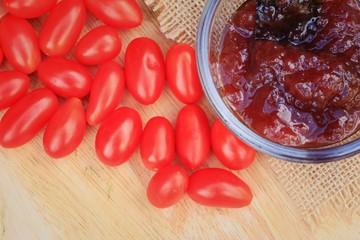 Fresh tomatoes and yam