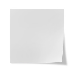 Post it isolated on white background