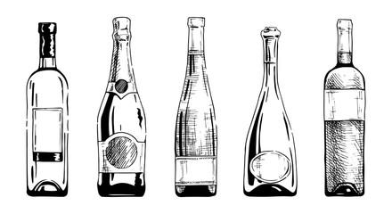 Wall Mural - Wine bottle