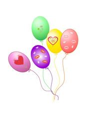 Balloons vector EPS10