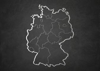 Tafel Deutschland mit Bundesländer