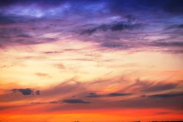 Sunset dramatic sky clouds