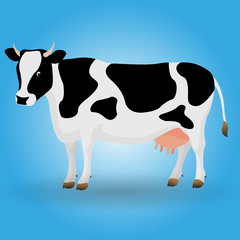 Cow illustration animal design black white