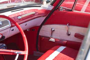 Details of vintage classic car