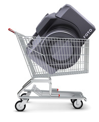 Camera in shopping cart