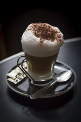 Latte from a small café in Paris