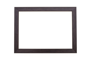 Wood photo frame isolated on white
