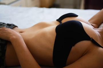 woman breast closup