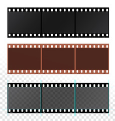 Film strips isolated on white background. Vector illustration