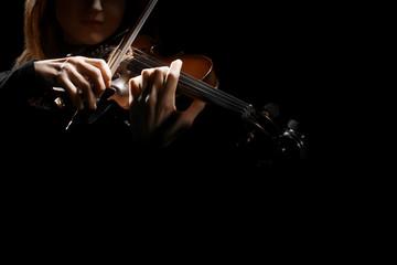 Violin player hands